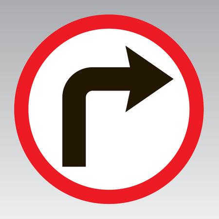 Ne tournez signe de la circulation droit de notifier la rue Vecteurs