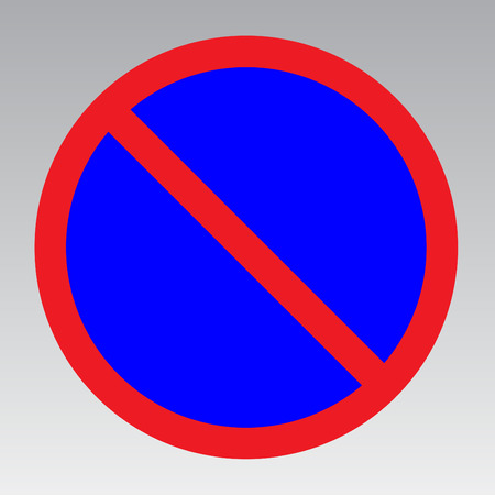notify: No parking traffic sign to notify the street Illustration
