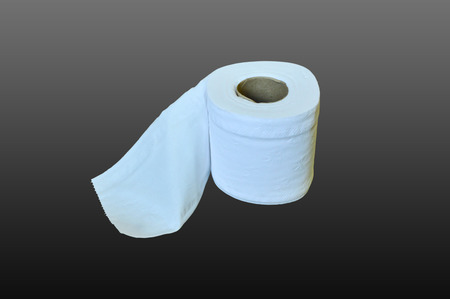 objects with clipping paths: toilet paper Stock Photo