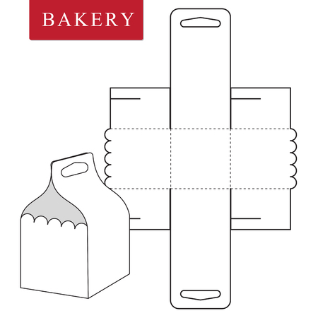 Package template for bakery food or Other items. Ilustrace