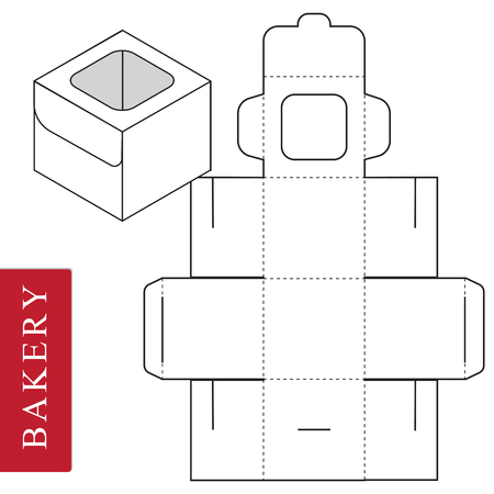 Package template for bakery food or Other items. Vectores