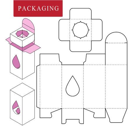 Paket für object.Vector Illustration der Box.Package-Vorlage. Isolierte weiße Einzelhandels-Mock-up.