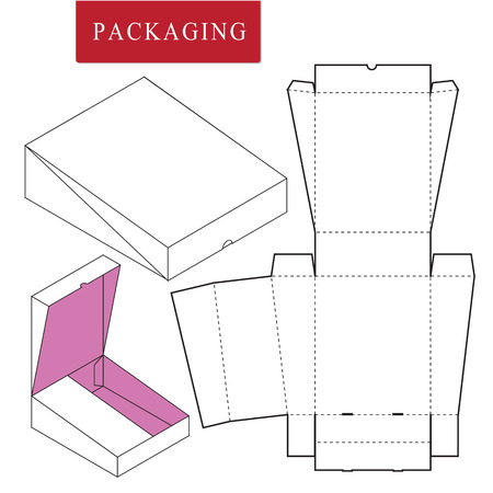 Vector Illustration of Box.Package Template. Isolated White Retail Mock up.