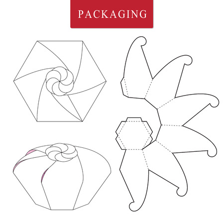 Fruit concept package.Vector Illustration of Box.Package Template. Isolated White Retail Mock up.