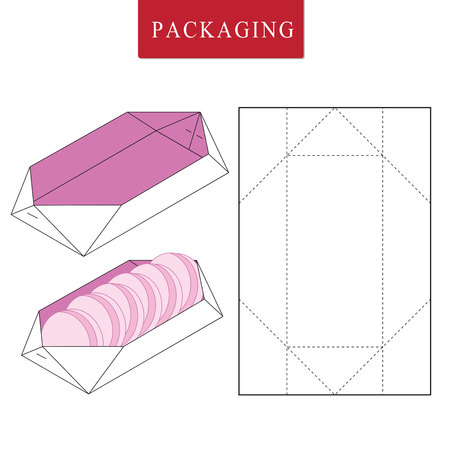 Packaging for street food.Thailand traditional  concept. Illustration