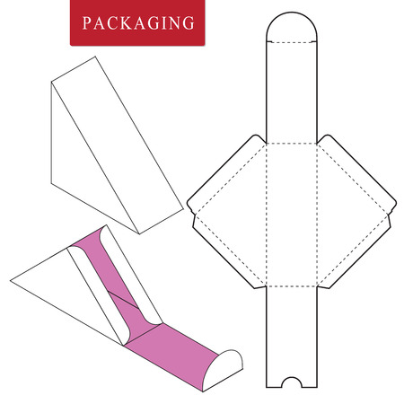 Pakaging design for food.Vector Illustration of Box.Package Template. Isolated White Retail Mock up.