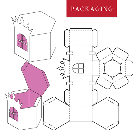 Package for object.Vector Illustration of Box.