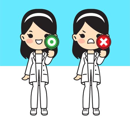 Illustration for doctor.Cute style.Vector illustation.