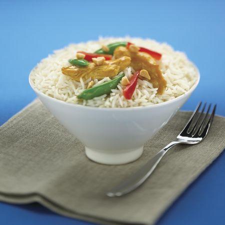 Dish of Basmati Rice 1 Stock Photo