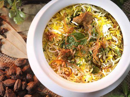 Vegitable Biryani Rice with Green Mint
