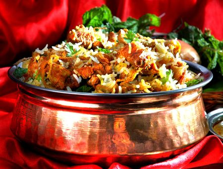Dish of Rice Close up