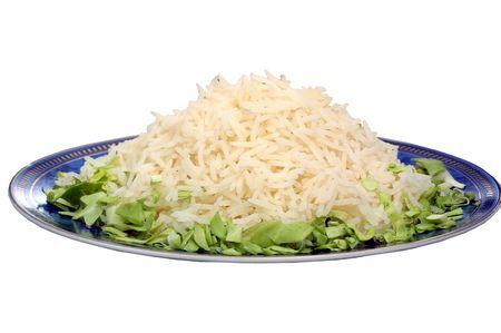 Cooked White Basmati Rice Stock Photo