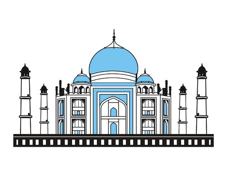 Vector Taj Mahal India