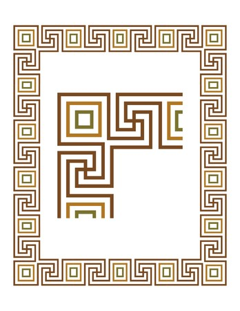 Vector Border on White Background 22 Illustration