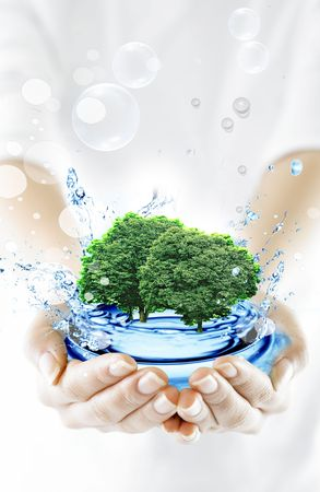 protect environment protect yourself 15 Stock Photo - 5012027