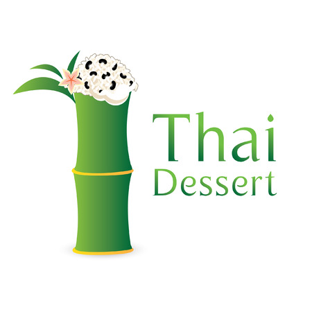 thai dessert: Khao Lam Thai, Thai dessert, coconut milk with sticky rice in bamboo
