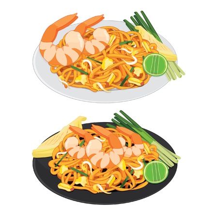 Pad thai is a stir-fried rice noodle dish commonly served as a street food and at casual local eateries in Thailand.