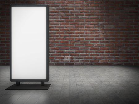 Vertonings Lichte Doos voor bakstenen muur Stockfoto