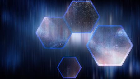 digital background: Abstract background, Hexagon digital looks Stock Photo