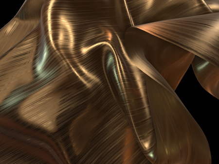 tissu or: 3D render of Gold Cloth abstrait