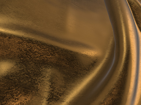 tissu or: 3D render of Gold Cloth abstract background