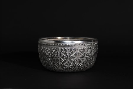 packshot bowl, silver photo