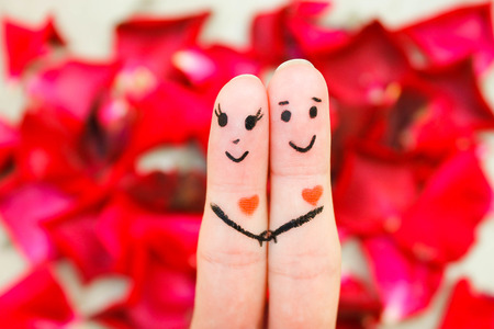 Happy couple  A man and a woman hug Banco de Imagens - 30403337