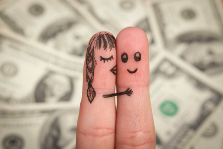 venal: Finger art of a Happy couple.