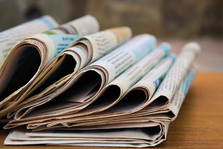 daily newspaper: Newspapers on the table