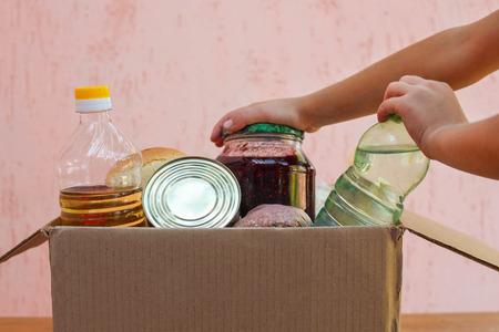 doos met voedsel Stockfoto