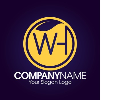 logo , branding nature the letter W and H Çizim