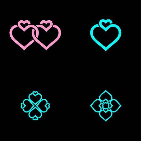 a logo that symbolizes the bond of love Illusztráció