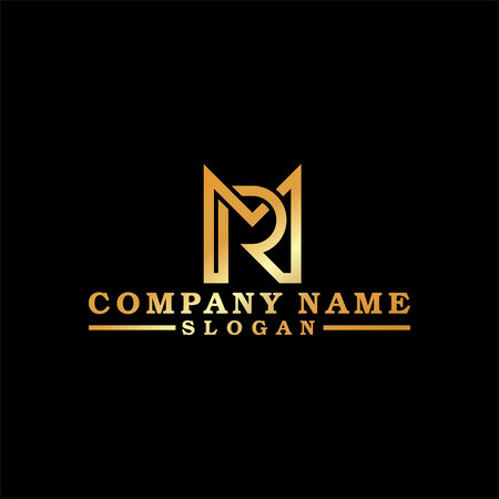 logo gold Letter M and R