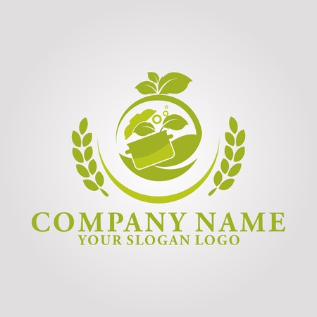 the logo of a healthy eating house Logo