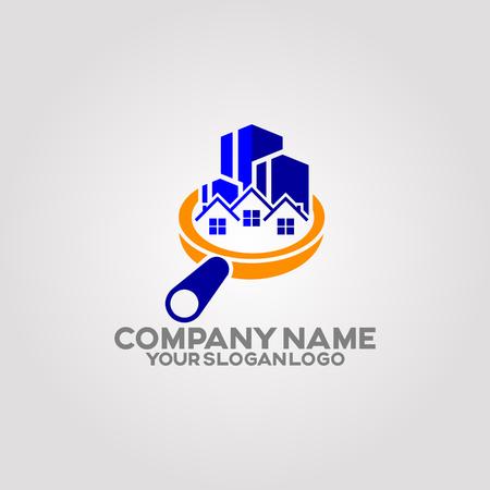 un logo qui décrit les services qui fournissent une inspection de la maison avant les achats et les inspections de propriété. Le public cible est les acheteurs de maison et les agents immobiliers. Logo