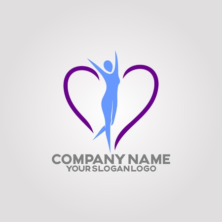 Women's body health logo by exercising and certain food diets that make her body shape look more attractive