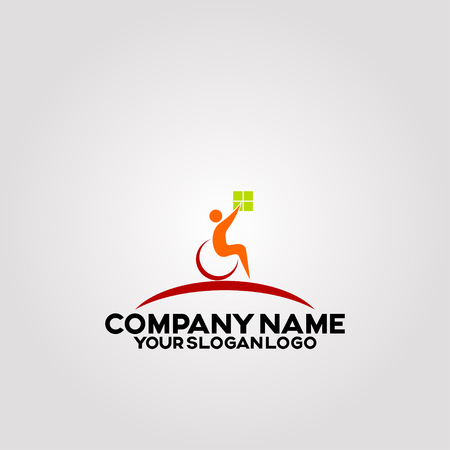 logos that pay attention to people with disabilities Illusztráció