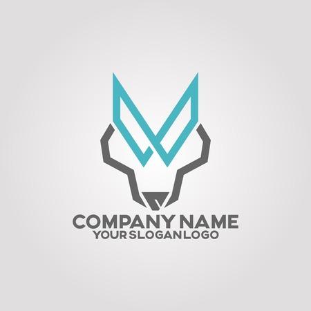logo line wolf Illusztráció
