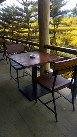 dining room design with a stretch of scenery Reklamní fotografie