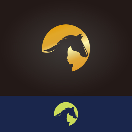 Horse logo in various colours