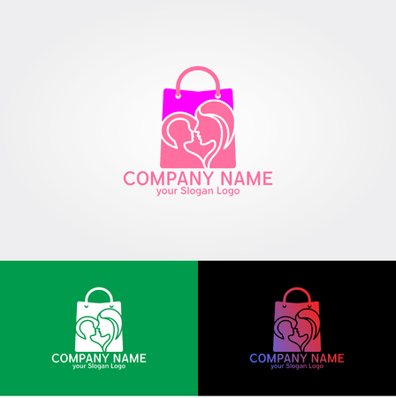 logo for baby equipment shopping with cute and feminine nuances