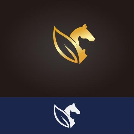Horse logo in yoga pose Ilustrace