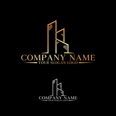 company logo combination of letters K and S that forms gold real estate