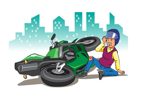 Als je te snel rijdt zonder rekening te houden met de verkeersborden en de veiligheid van jezelf, zal de ramp je altijd overschaduwen. Stock Illustratie