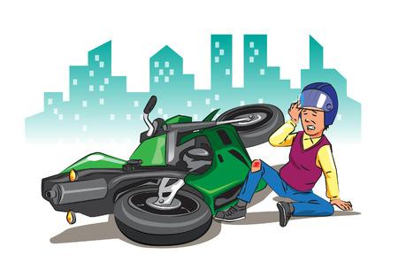 Wenn Sie zu schnell fahren, ohne auf die Verkehrszeichen und die Sicherheit zu achten, liegt die Katastrophe immer im Hintergrund. Vektorgrafik