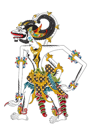 Hanoman is a white monkey one of the characters in the Ramayana epic, as a protective deity.
