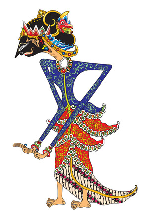 Dewi Amba is one character of a princess from the story of Mahabharata. The story is presented in the form of shadow puppets.