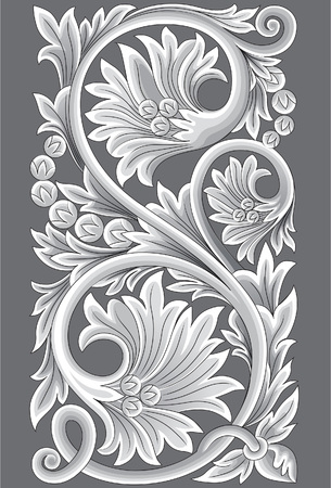 Jepara carved ornaments. Jepara carving patterns is an expression of the forms of plants that spread. Illustration