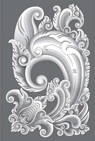 Carved ornaments Bali. Carving patterns Bali is an outgrowth of carving patterns Pajajaran and Majapahit.