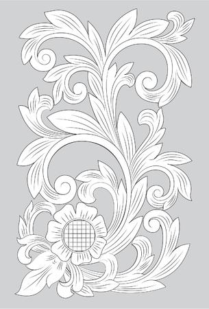 Motif Madura line art illustration on gray background.  イラスト・ベクター素材